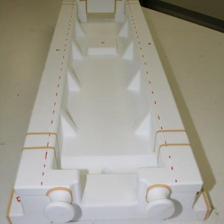 Exporit-Modell // Styrofoam model